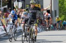 Travis McCabe vince la seconda tappa del Tour of the Gila davanti a Marco Canola © SportifImages