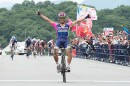 Yukiya Arashiro esulta a Izu © Tour of Japan