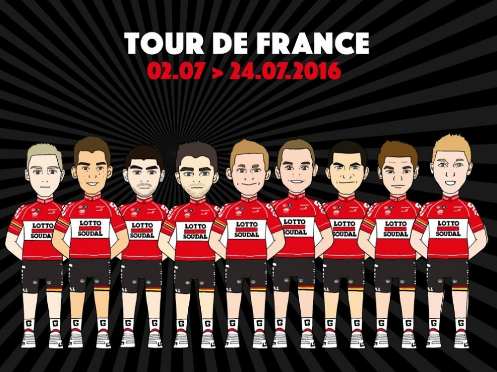 I nove prescelti dalla Lotto Soudal per il Tour de France © Lotto Soudal