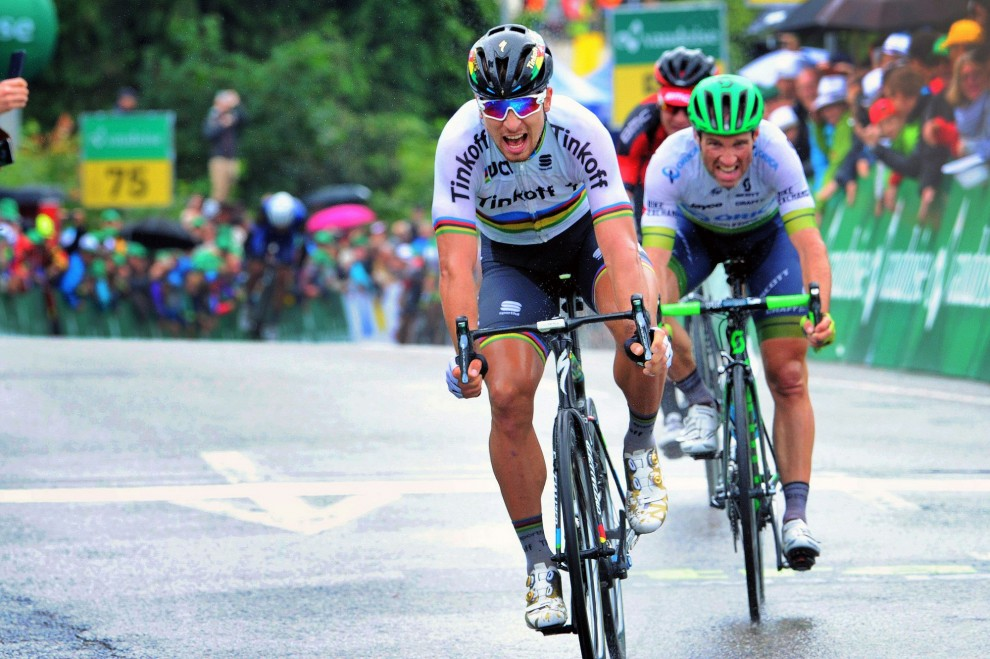 Peter Sagan (Tinkoff) vince la terza tappa del Tour de Suisse © Bettiniphoto