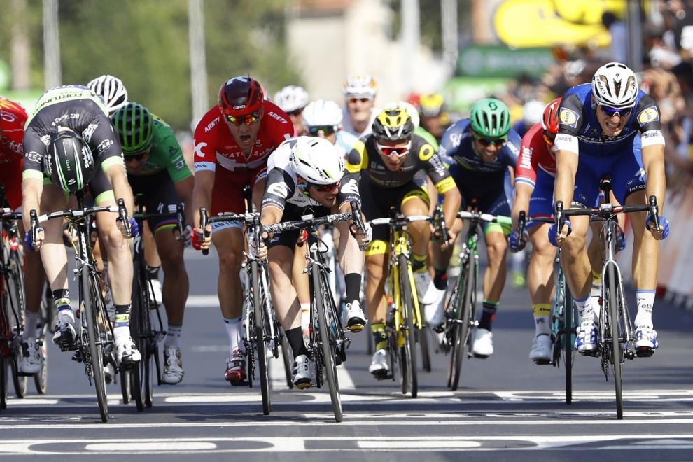 Mark Cavendish guarda Marcel Kittel ma non deve temere: ha vinto lui © Bettiniphoto