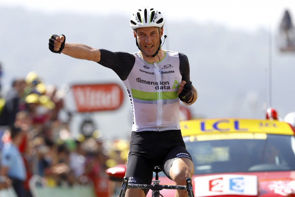 L'arrivo di Stephen Cummings (Dimensio Data) a Lac de Payolle © Bettiniphoto