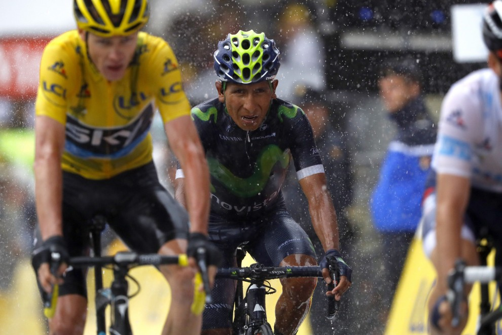 Nairo Quintana costantemente all'ombra di Chris Froome al Tour de France 2016 © Bettiniphoto