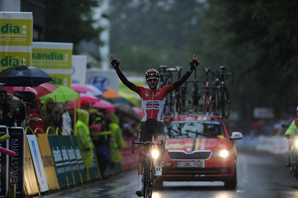 Tim Wellens all'arrivo a Zakopane © Twitter