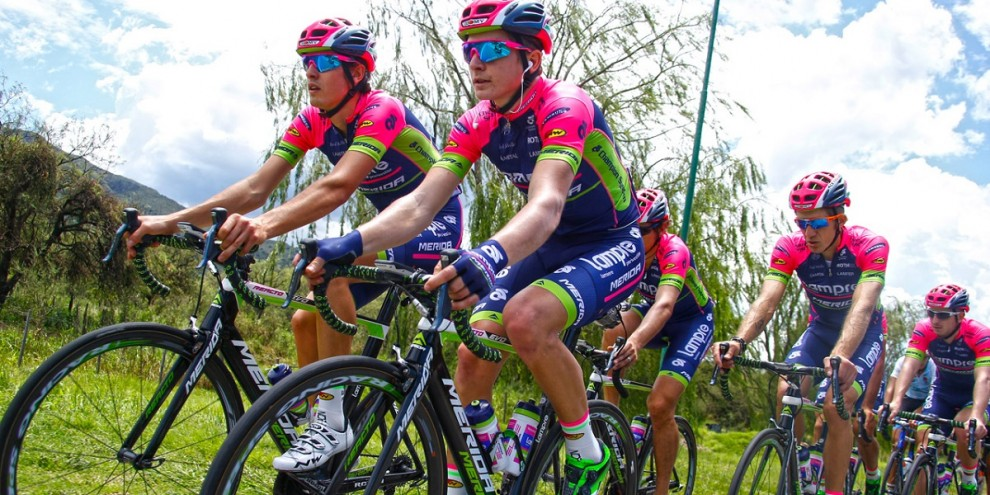 La Lampre-Merida impegnata in allenamento © Bettiniphoto