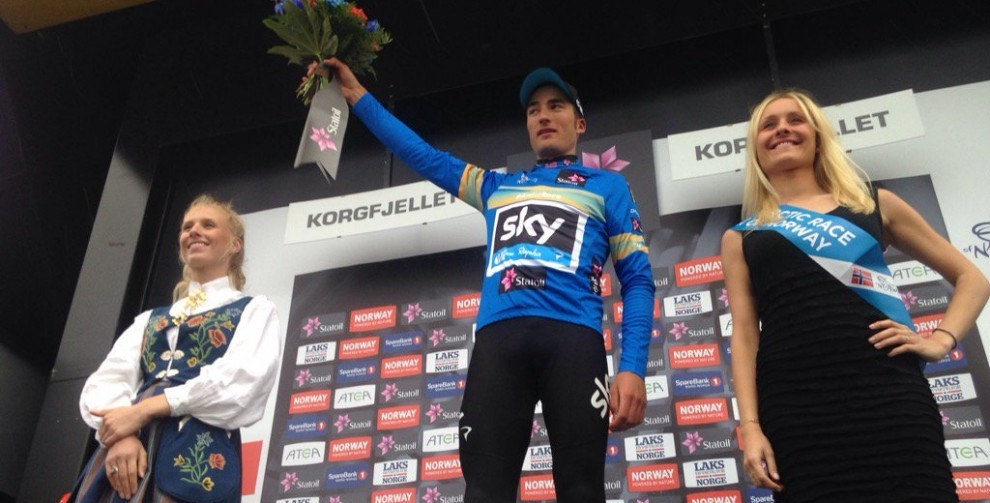 Tappa e maglia per Gianni Moscon all'Arctic Race of Norway © Twitter