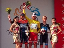 Il podio finale del Tour of China II @ Androni