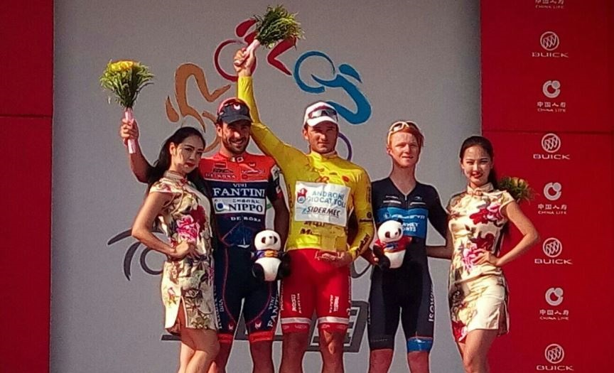 Il podio finale del Tour of China II © Androni Giocattoli-Sidermec