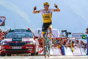 Gesink in vetta all'Aubisque © Bettiniphoto