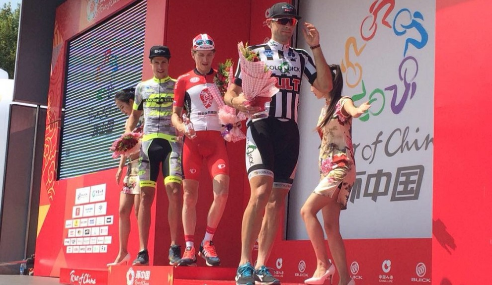 Paolo Lunardon secondo nel prologo del Tour of China II © Twitter