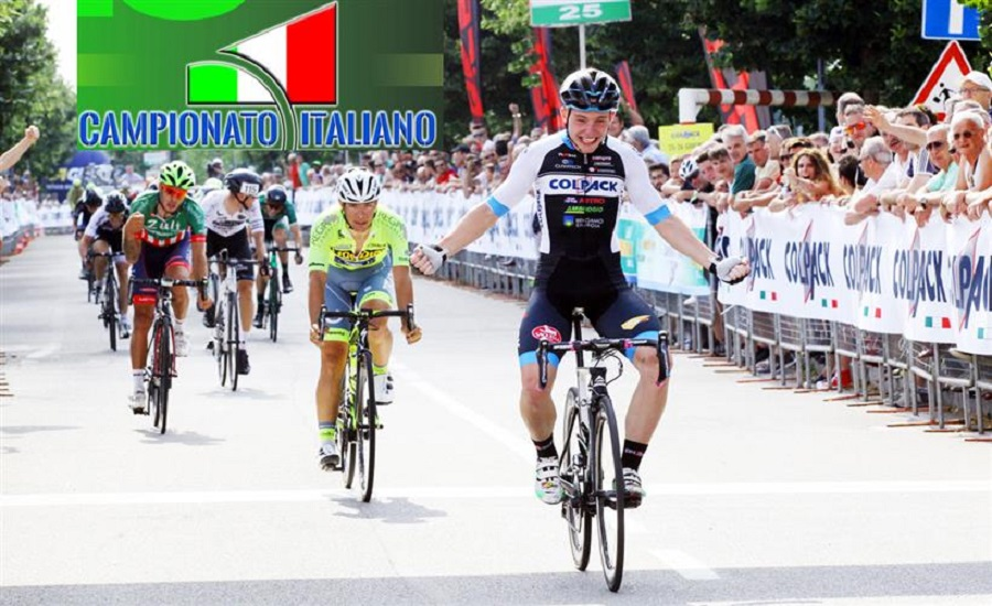 Simone Consonni vince il titolo under 23 2016 © Bettiniphoto
