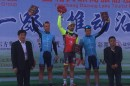 Il podio del Tour of Yancheng © Twitter