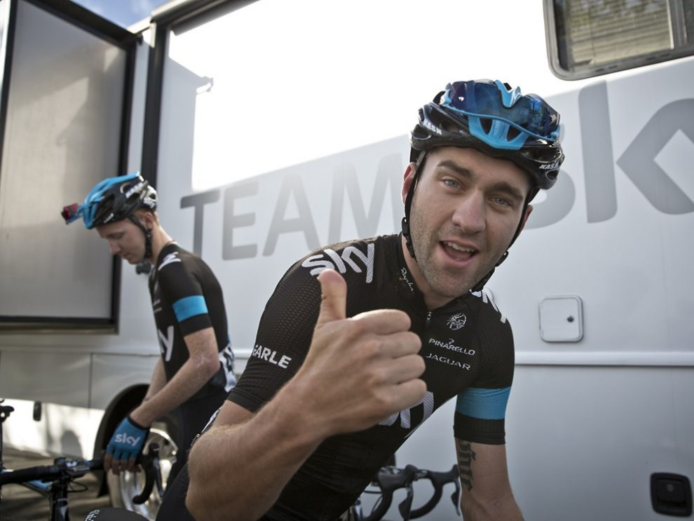 Nathan Earle in maglia Team Sky © Sky Sports