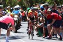 Richie Porte scatena l'entusiasmo dei tifosi a Willunga Hill © BMC Racing Team - Tim De Waele