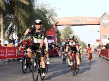 Mark Cavendish esulta per la vittoria all'Abu Dhabi Tour © Abu Dhabi Tour