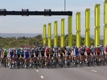 I corridori impegnati al Tour Down Under © Tour Down Under