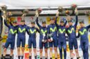 Il Movistar Team sale sul podio della Volta Ciclista a Catalunya © Bettiniphoto