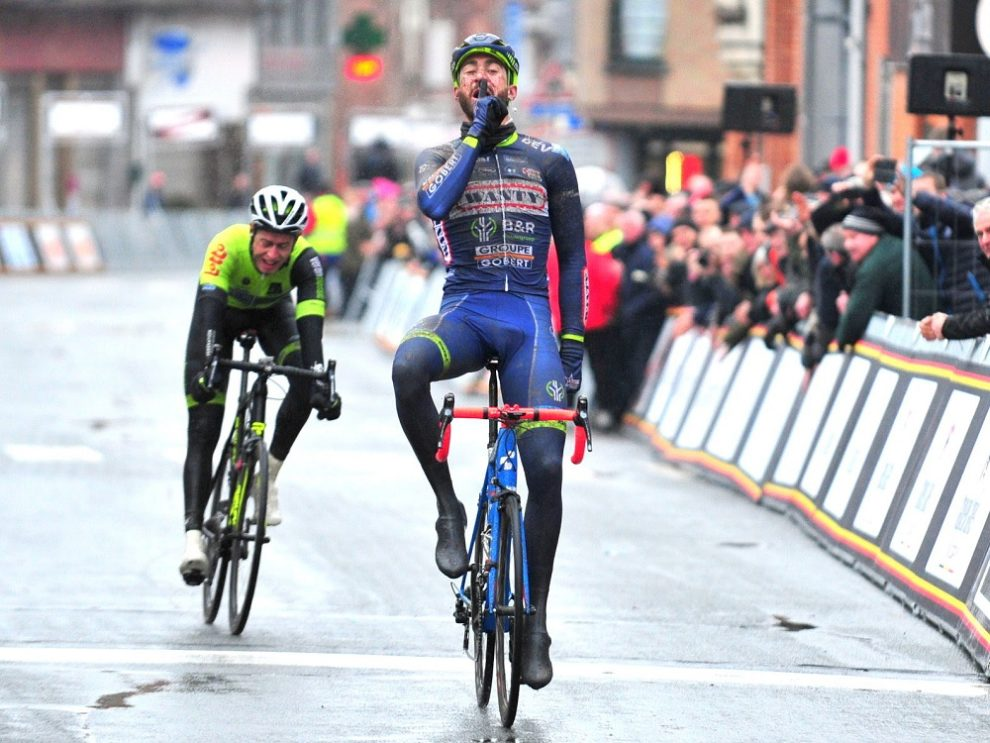 Guillaume Van Keirsbulck esulta a Le Samyn © Wanty-Groupe Gobert