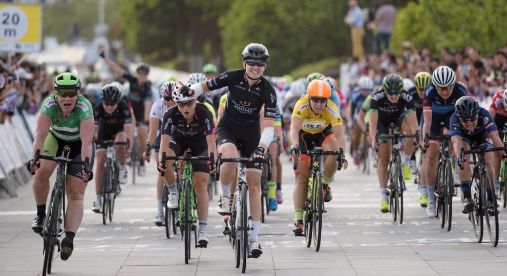 D'Hoore batte Wild nella 2a tappa del Tour of Chongming Island © UCI WWT