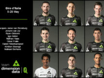 I nove del Team Dimension Data al via del Giro d'Italia