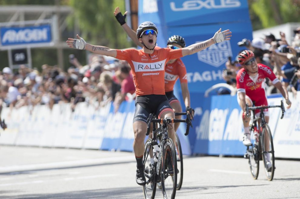 La gioia di Evan Huffman per il successo al Tour of California © Tour of California