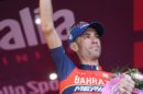 Nibali sul podio finale © Bettiniphoto