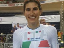 Una sorridente Elisa Balsamo dopo la conclusione dell'Omnium all'Europeo under 23 2017 © Twitter