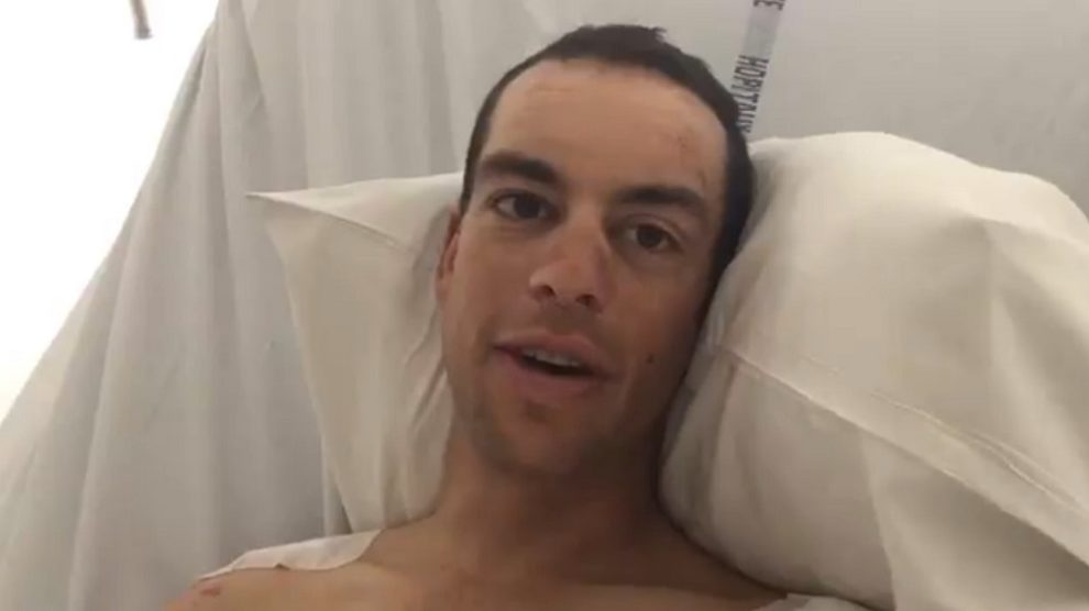 Richie Porte parla dall'ospedale di Chambéry © Twitter