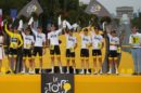 Il Team Sky premiato come miglior squadra del Tour de France 2017 © Bettiniphoto