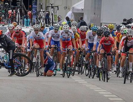 L'incredibile incidente di Herning © Highlights of Cycling Weekly/Anton Vos