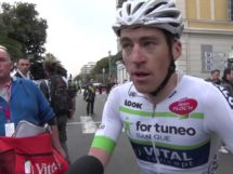 Arnold Jeannesson al termine della Paris-Nice 2017 © Youtube