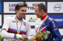 Complimenti reciproci tra Tom Dumoulin e Chris Froome a Bergen © Bettiniphoto