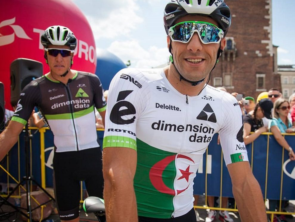 Youcef Reguigui in maglia Team Dimension Data © Instagram