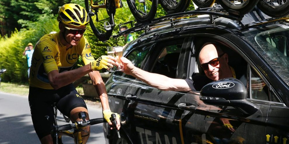 Chris Froome con Dave Brailsford © Team Sky