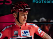 Chris Froome in maglia rossa all'ultima Vuelta © Bettiniphoto