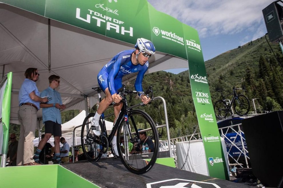 Christopher Jones prima del via della cronometro al Tour of Utah © Jonathan Devich