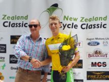 Nick Reddish in maglia gialla al New Zealand Cycle Classic © New Zealand Cycle Classic