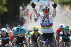 Peter Sagan all'arrivo di Uraidla, sua prima vittoria al Tour Down Under © Santos Tour Down Under
