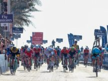 La volata della prima tappa del Dubai Tour © Bettiniphoto - Roberto Bettini