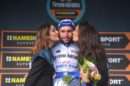 Fernando Gaviria sul podio alla Tirreno-Adriatico © Getty Images
