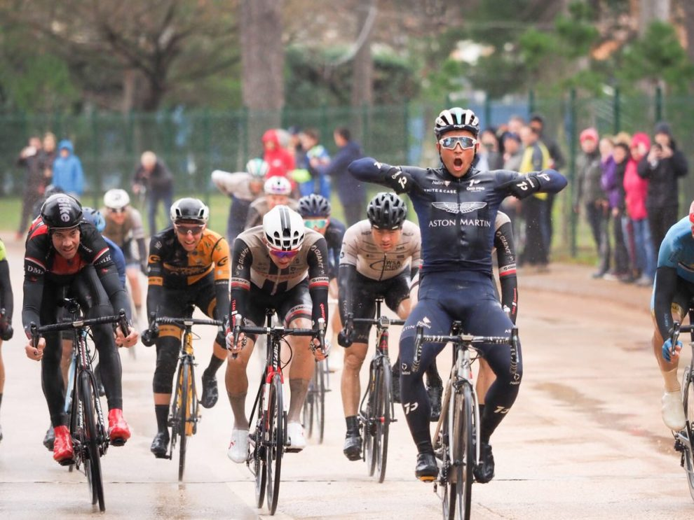 Emils Liepins si impone nell'ultima tappa dell'Istrian Spring Trophy © Twitter