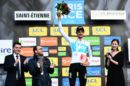 Wout Poels sul podio alla Paris Nice © ASO - Alex Broadway