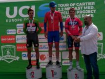 Il podio del prologo del Tour of Cartier © Minsk Cycling Club