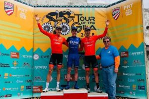 Il podio dell'ultima tappa al Tour of the Gila © Tour of the Gila