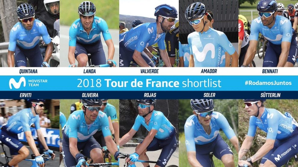 La preselezione Movistar per il Tour de France