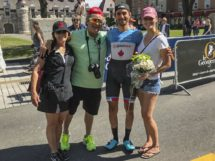 James Piccoli con genitori e fidanzata al Tour de Beauce © Canadian Cyclist