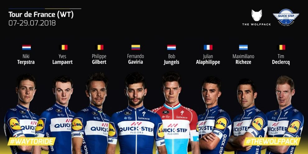 La Quick-Step Floors al prossimo Tour de France