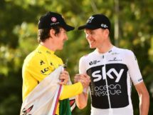 Geraint Thomas e Chris Froome sul podio al Tour de France © ASO - Alex Broadway