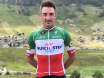 Elia Viviani in maglia tricolore © Quick-Step Floors