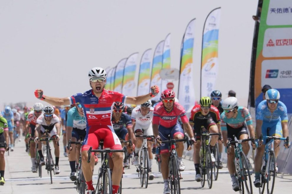 Dusan Rajovic fa sua la decima tappa del Tour of Qinghai Lake © Tour of Qinghai Lake